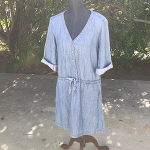 9f4dc4ba0f6 Michael Stars Dresses - Michael Stars Roll Up Sleeve Denim Shirt Dress
